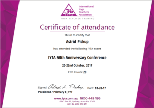 Certificate Of The Month February-2018 – Iyta – Attendance in International Conference Certificate Templates