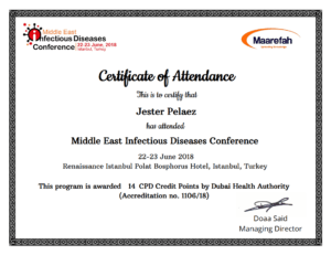 Certificate Of The Month – October 2018 – Maarefah inside Conference Certificate Of Attendance Template