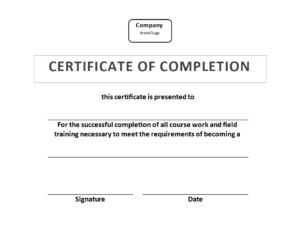 Certificate Of Training Completion Example | Templates At intended for Template For Training Certificate