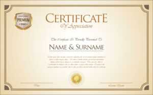 Certificate Or Diploma Retro Template – Download Free for Commemorative Certificate Template