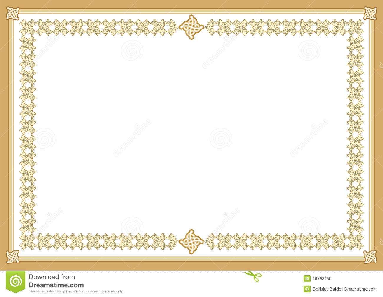 Certificate Stock Vector. Illustration Of Awards, Coloured Regarding Award Certificate Border Template