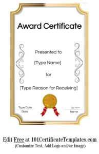 Certificate Template Award | Safebest.xyz regarding Powerpoint Award Certificate Template