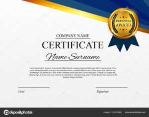 Certificate Template Background. Award Diploma Design Blank regarding Design A Certificate Template