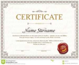 Certificate Template Design Stock Vector – Illustration Of in Mock Certificate Template