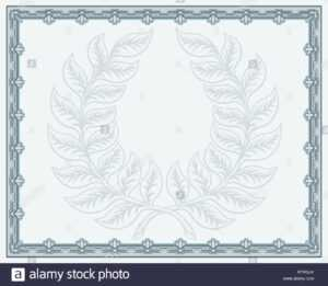 Certificate Template Diploma Background Stock Vector Art throughout Qualification Certificate Template