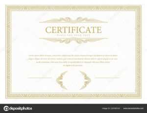 Certificate Template Diploma Currency Border Award regarding Commemorative Certificate Template