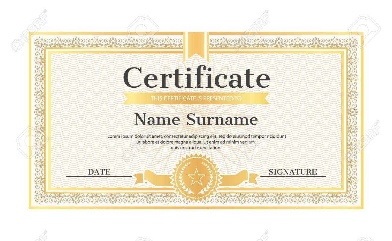 Certificate Template Editable Name And Surname, Date And Signature,.. Inside Star Naming Certificate Template