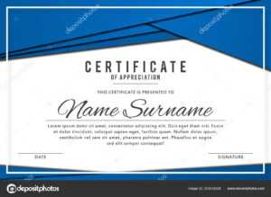 Certificate Template Elegant Blue Color Abstract Borders pertaining to Referral Certificate Template