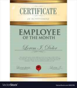Certificate Template Employee Of The Month with Employee Of The Month Certificate Template With Picture