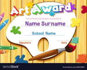 Certificate Template For Art Award With throughout Free Art Certificate Templates