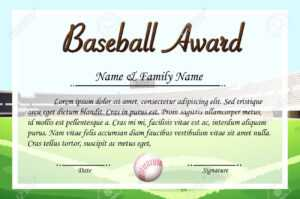 Certificate Template For Baseball Award Illustration with Free Softball Certificate Templates