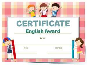 Certificate Template For English Award With Many Kids with Math Certificate Template
