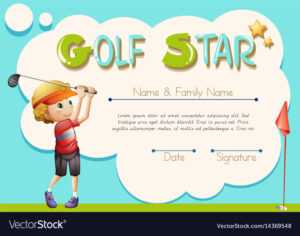 Certificate Template For Golf Star for Star Of The Week Certificate Template