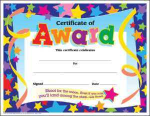 Certificate Template For Kids Free Certificate Templates-Pdf inside Certificate Templates For School