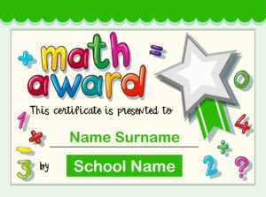 Certificate Template For Math Award – Download Free Vectors with regard to Star Award Certificate Template