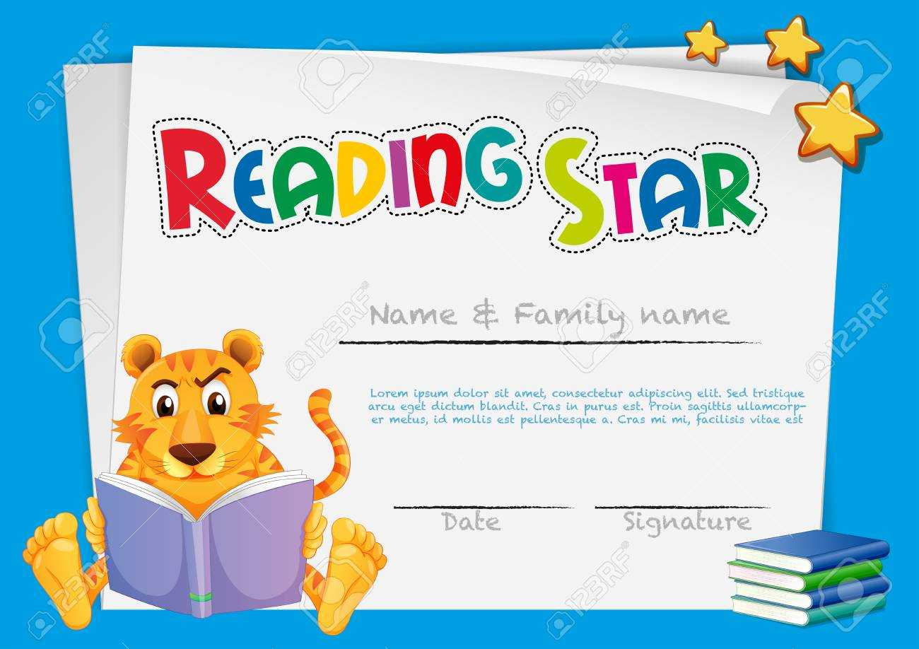 Certificate Template For Reading Award Illustration Within Star Award Certificate Template