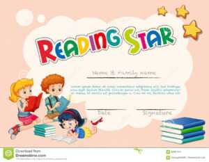 Certificate Template For Reading Star With Pink Background inside Star Naming Certificate Template