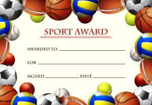 Certificate Template For Sport Award – Download Free Vectors within Basketball Camp Certificate Template