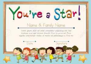 Certificate Template For Star Illustration within Star Naming Certificate Template
