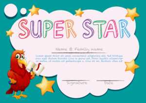 Certificate Template For Super Star – Download Free Vectors with regard to Star Award Certificate Template