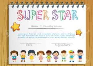 Certificate Template For Super Star Illustration throughout Star Naming Certificate Template