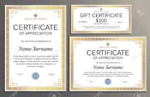 Certificate Template, Gift Voucher In Vintage Style For Your.. regarding Company Gift Certificate Template
