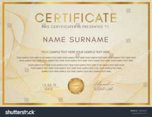 Certificate Template Guilloche Pattern Golden Frame Stock with Life Saving Award Certificate Template