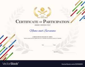Certificate Template In Baseball Sport Theme With pertaining to Athletic Certificate Template