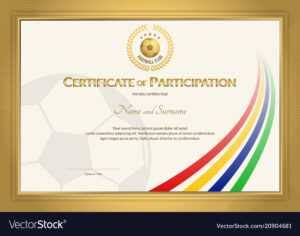 Certificate Template In Football Sport Color with regard to Football Certificate Template