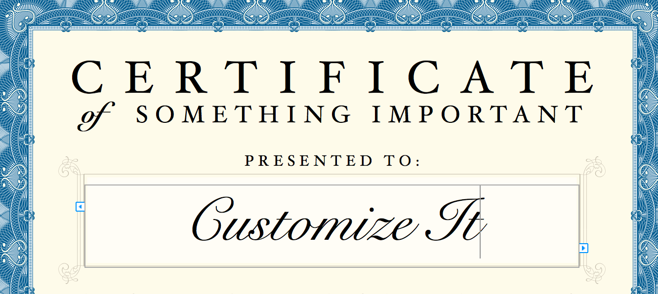 Certificate Template In Pages Certificate Templates