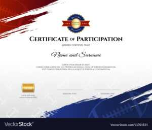 Certificate Template In Rugby Sport Theme With with regard to Athletic Certificate Template