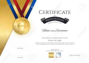 Certificate Template In Sport Theme With Border Frame, Diploma.. for Sports Day Certificate Templates Free