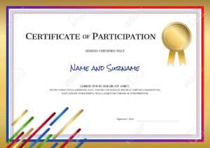 Certificate Template In Sport Theme With Border Frame, Diploma.. regarding Certificate Border Design Templates