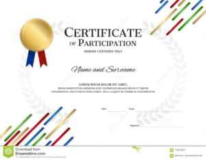 Certificate Template In Sport Theme With Border Frame throughout Athletic Certificate Template