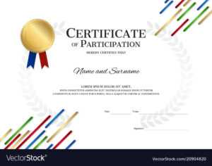Certificate Template In Sport Theme With Border intended for Sports Day Certificate Templates Free