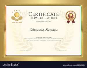 Certificate Template In Tennis Sport Theme With with regard to Tennis Gift Certificate Template