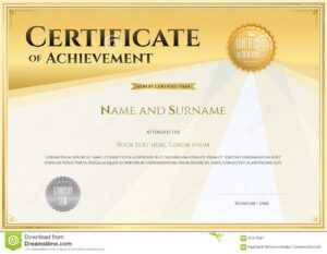 Certificate Template In Vector For Achievement Graduation throughout Sales Certificate Template