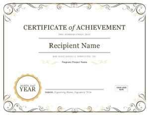 Certificate Template In Word   Safebest.xyz regarding Certificate Of Achievement Template Word