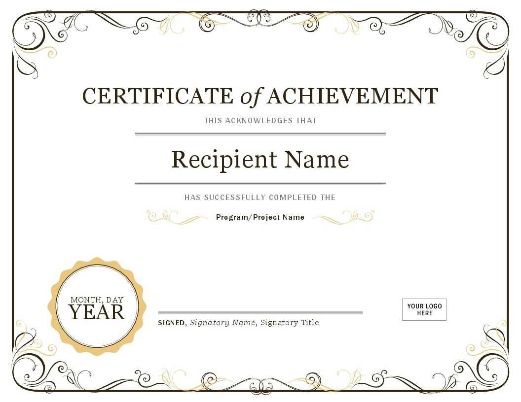 Certificate Template In Word | Safebest.xyz Within Word Certificate Of Achievement Template