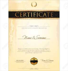 Certificate Template intended for Free Stock Certificate Template Download
