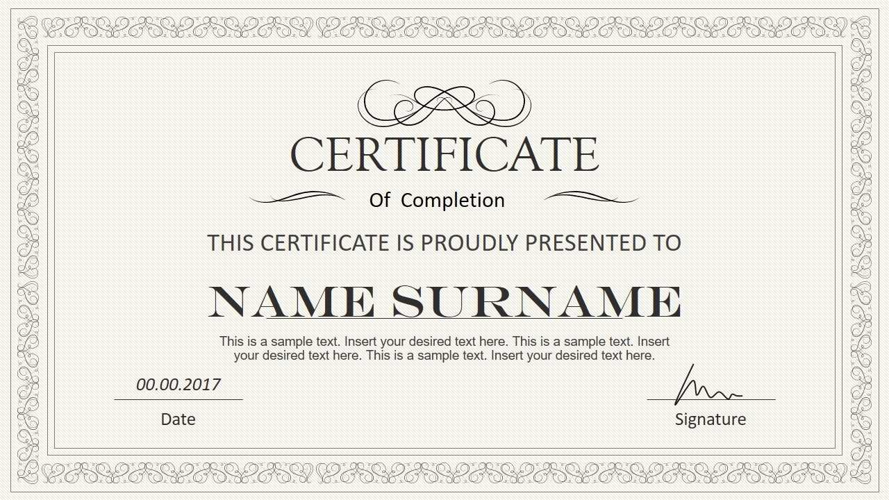 Certificate Template Powerpoint | Safebest.xyz In Award Certificate Template Powerpoint