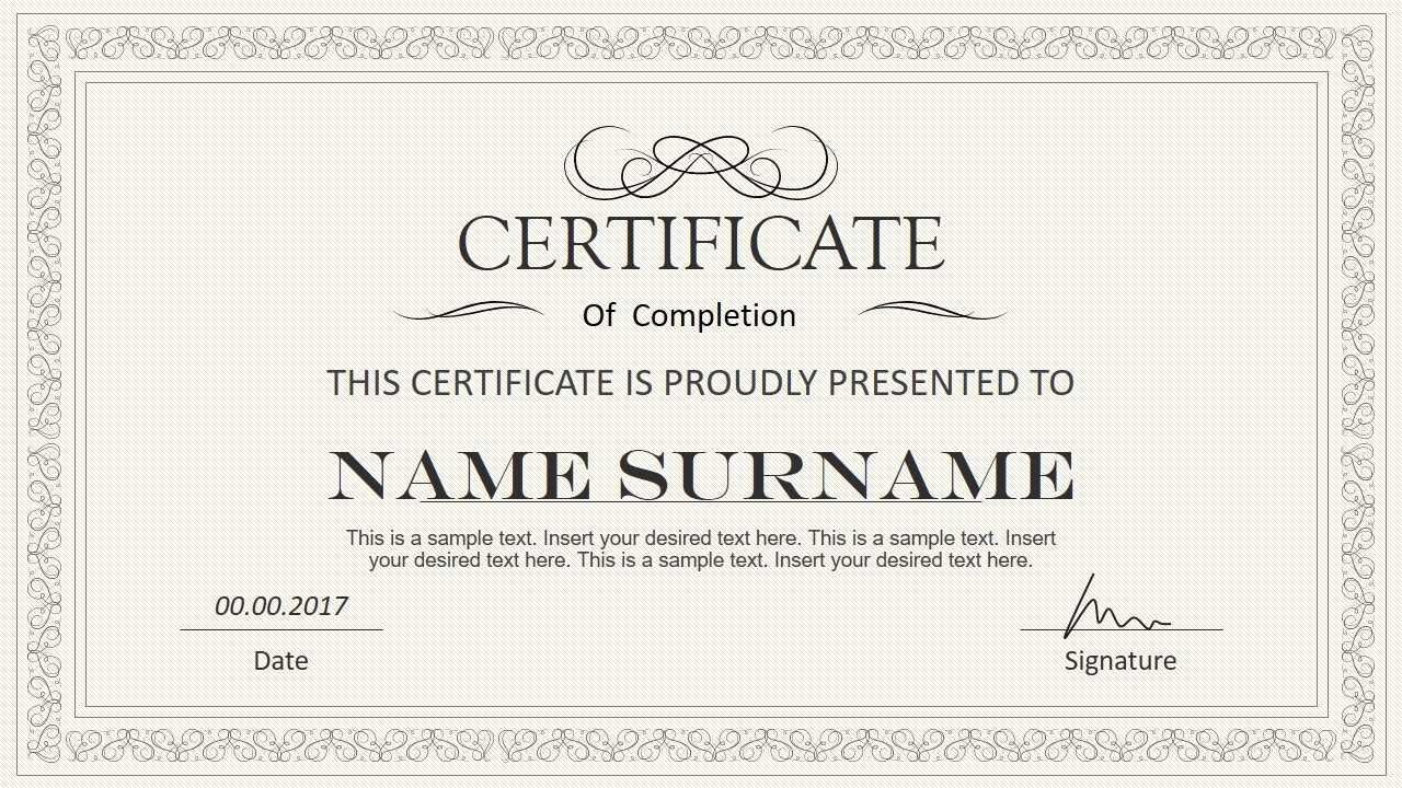 Certificate Template Powerpoint | Safebest.xyz Within Powerpoint Award Certificate Template