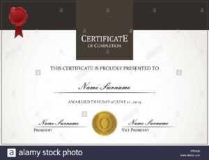Certificate Template Stock Vector Art & Illustration, Vector inside Borderless Certificate Templates