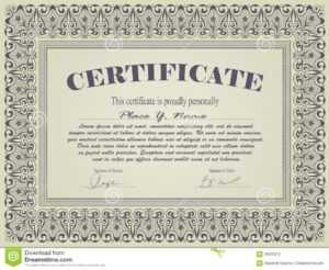 Certificate Template Stock Vector. Illustration Of Promotion with Promotion Certificate Template