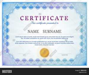 Certificate Template Vector & Photo (Free Trial) | Bigstock with Validation Certificate Template