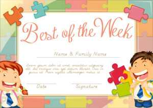 Certificate Template With Children Background – Download for Star Of The Week Certificate Template