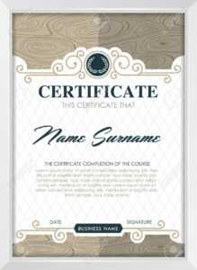 Certificate Template With Clean And Modern Pattern, Luxury  Golden,qualification.. within Qualification Certificate Template