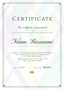Certificate Template With Frame Border And Pattern. Design For.. intended for Certificate Of License Template