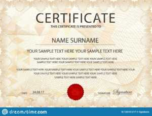 Certificate Template With Guilloche Pattern, Frame Border pertaining to First Place Certificate Template