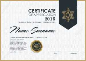 Certificate Template With Luxury And Modern Pattern,, Qualification.. inside Qualification Certificate Template